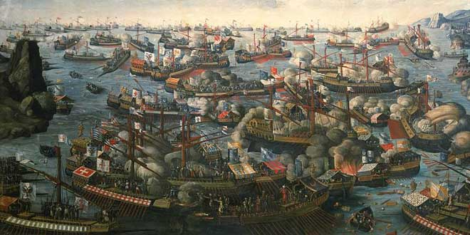 Batalla de Lepanto, 1571 (Autor desconocido, finales del siglo XVI)