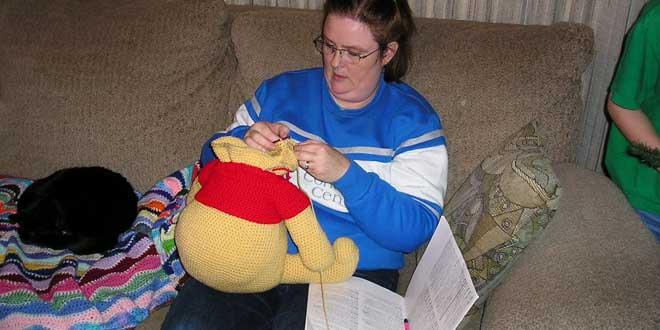 Tejiendo un Winnie the Pooh