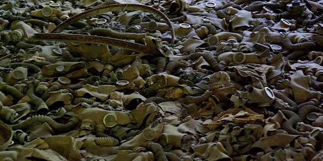 Máscaras abandonadas en Chernóbil