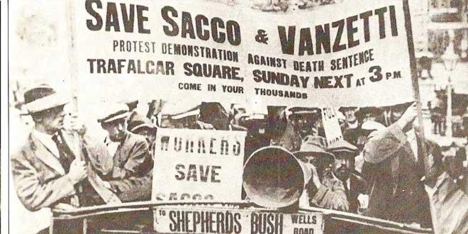 Protestas a favor de Sacco y Vanzetti en Londres (1921)