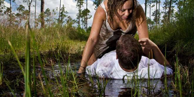 pareja fango