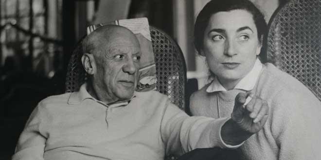 Pablo Picasso y su mujer Jacqueline Roque