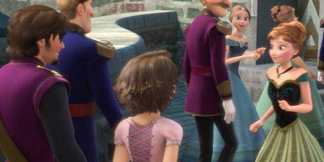 Rapunzel y Flynn en Frozen