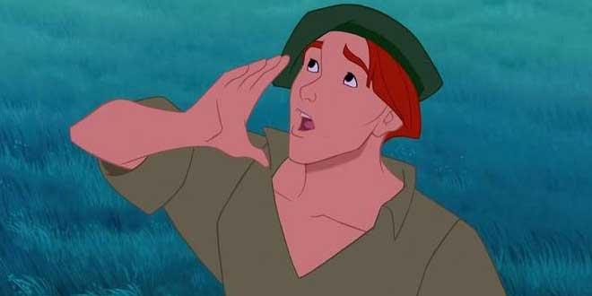 Clip del film Pocahontas (1995, Mike Gabriel y Eric Goldberg) en el que aparece el personaje Thomas