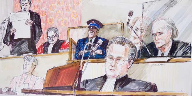 Ilustración del Juicio de Klaus Barbie