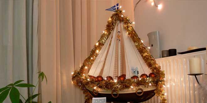 velero navideño griego