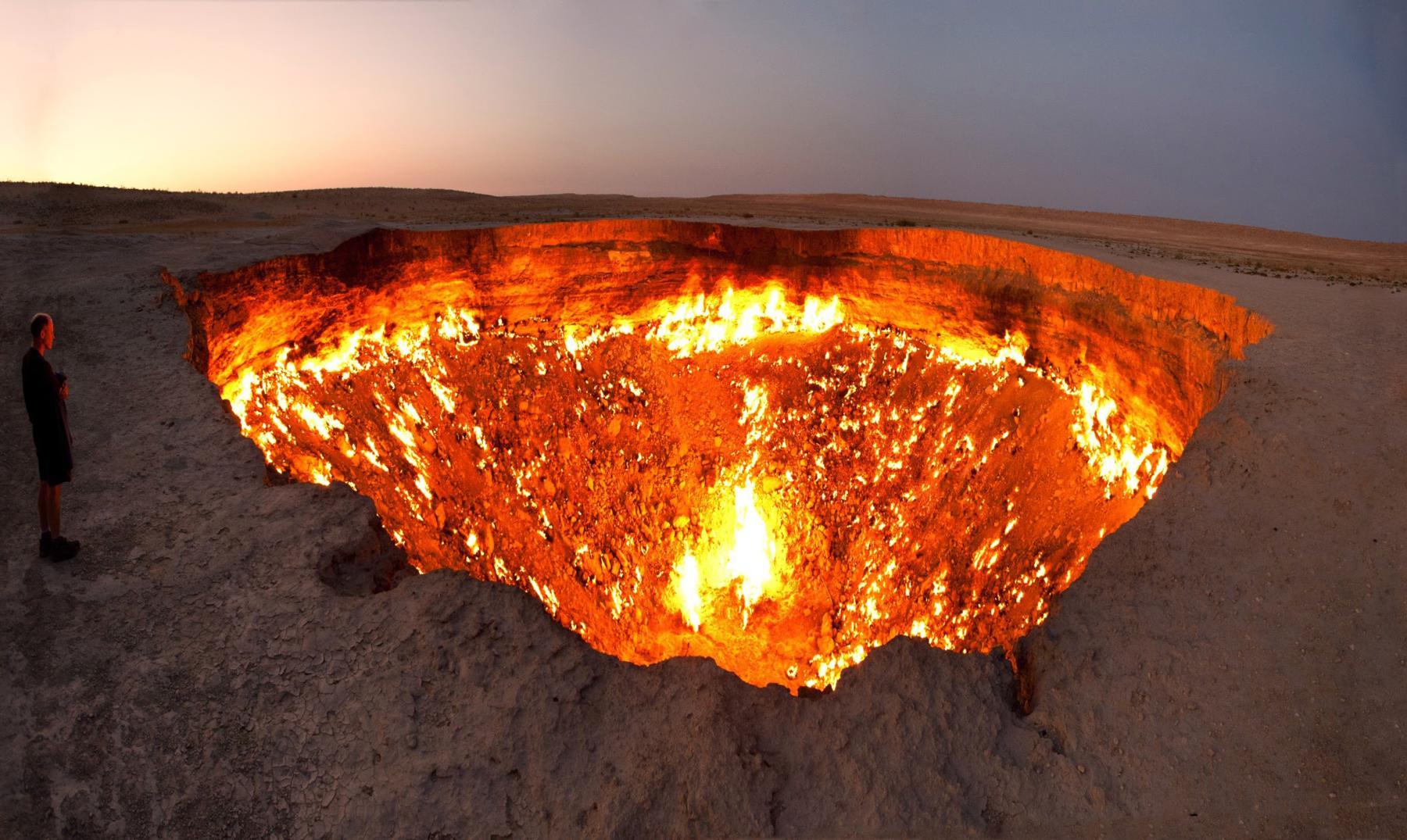 "La ""puerta al infierno"" de Turkmenistán"
