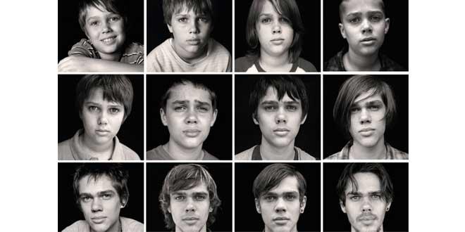 """Imágenes de las distintas fases de crecimiento del protagonista de """"Boyhood"""" (Ellar Coltrane)"""