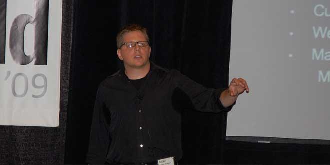Sudando en una conferencia