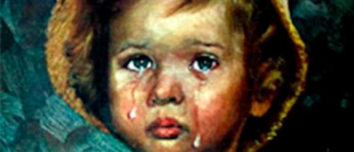 cuadros malditos niños llorones