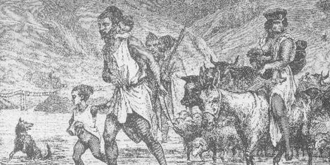 Familia bereber en una  litografía del siglo XIX