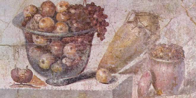 Fresco romano en Pompeya (c. 70 d. C.).