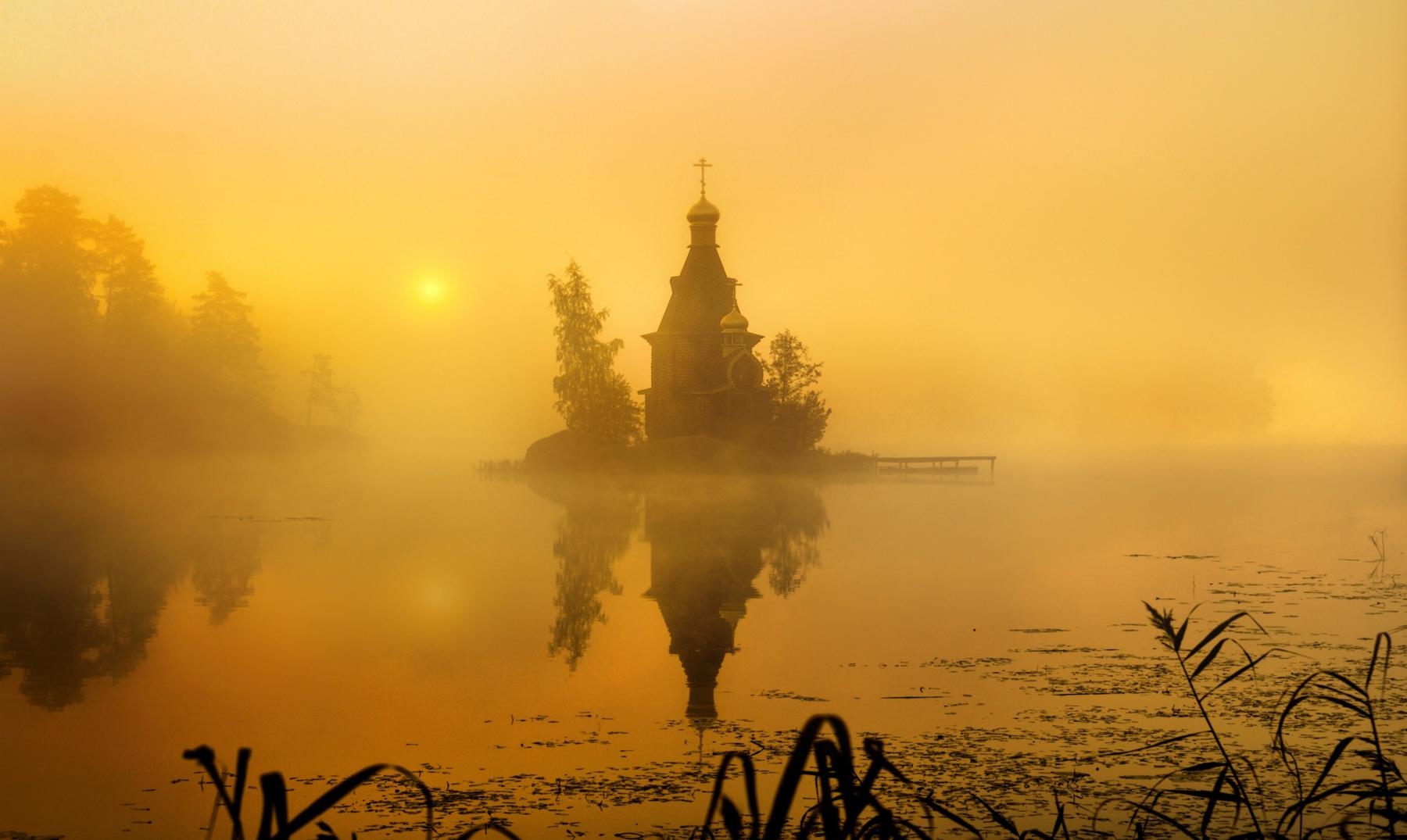 La iglesia de la niebla: San Andrés de Vuoksa