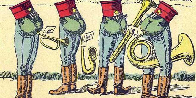 Pedos con trompetas