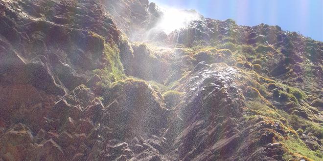Una vista de la pared del Roraima, ya casi llegando a la cima. Nos podemos imaginar un gran dinosaurio al llegar