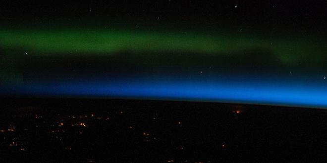 aurora boreal sobre Rusia