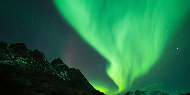 aurora boreal verde