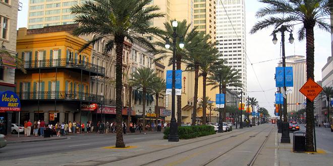 Vista de la calle Canal de Nueva Orleans