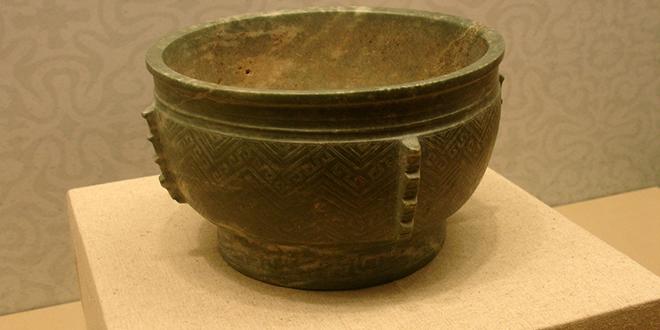 Tazón de jade gris, dinastía Shang (Qing Yu Gui)