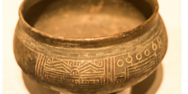 Cerámica preincaica, expuesta en el Museo Blanton de Austin, Texas