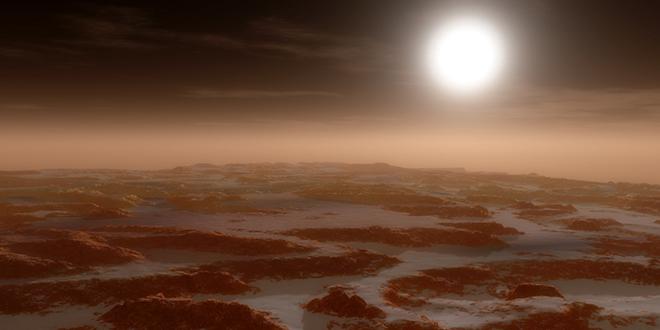 Otro paisaje marciano, donde se observan las dunas