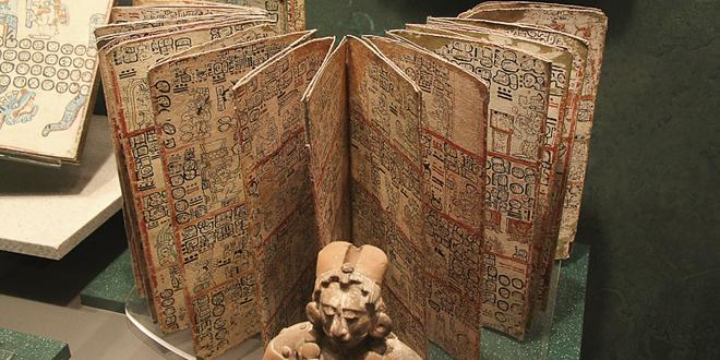 Antiguo libro maya