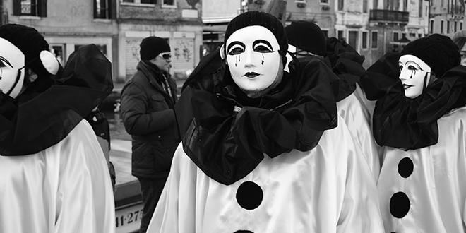 Las masquera nobile, las más tradicionales y usadas en el carnaval de Venecia