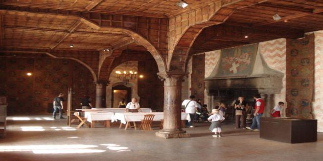 Inside Château de Chillon