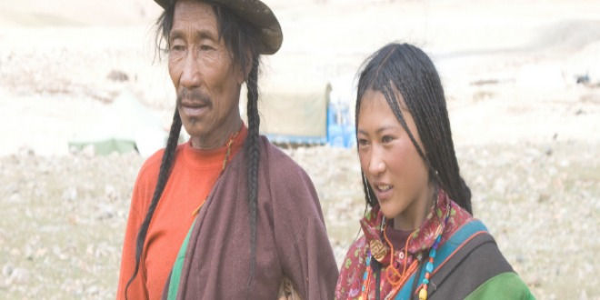 Drokpa, padre e hija