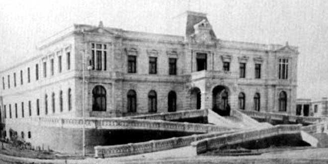 """Edificio del Hospital Psiquiátrico """"La Castañeda"""",1910."""