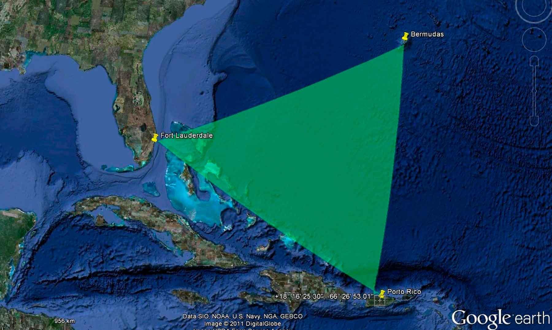 teorías sobre el Triángulo de las Bermudas