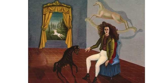"""""""Autorretrato en el Albergue del Caballo de Alba"""" (1937, Leonora Carrington)"""