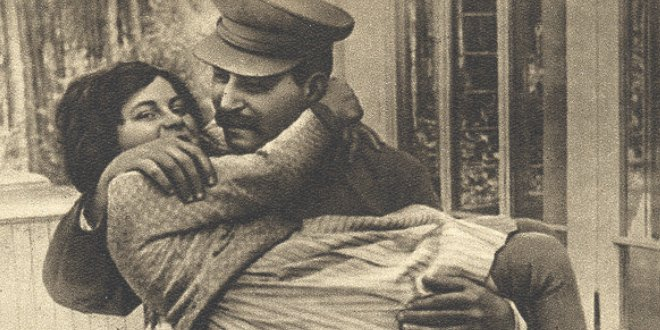Stalin y su hja Svetlana