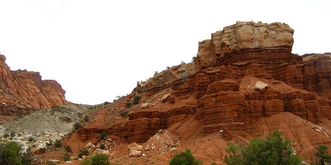 Desierto de Escalante, en Utah, a pocos kilómetros de la zona de afectación de las pruebas nucleares de Nevada