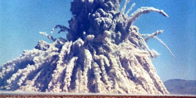 Explosión de la prueba nuclear subterránea en Nevada, 1962