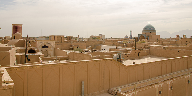 Vista de Yazd, una importante ciudad de Irán
