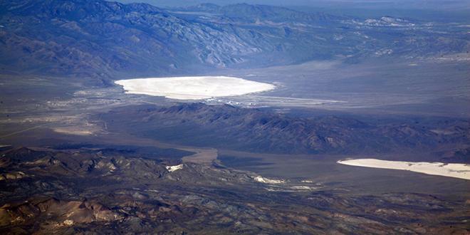 Sitio de pruebas nucleares de Nevada. Lagos Groom y Paloose