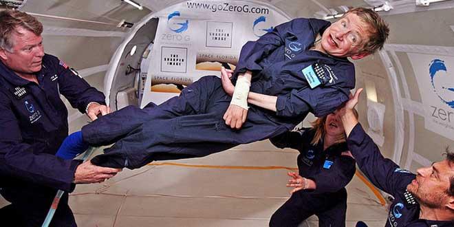 Stephen Hawking probando la gravedad 0