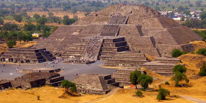 Vista de Teotihuacán, México