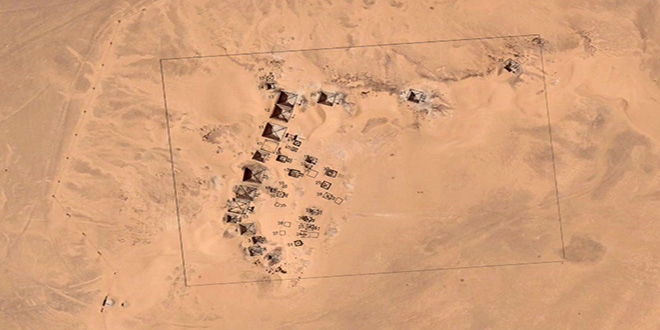 Vista aérea de las necrópolis