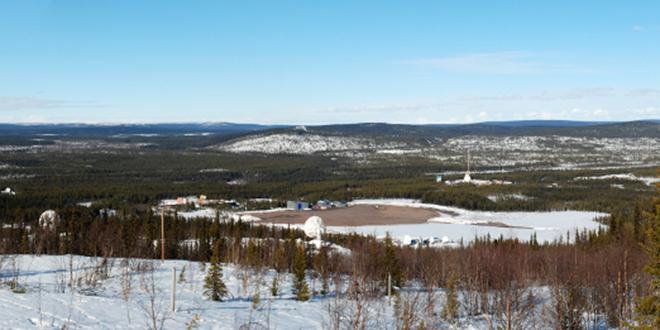 Vista panorámica del Centro Espacial ESRANGE en Kiruna, Suecia
