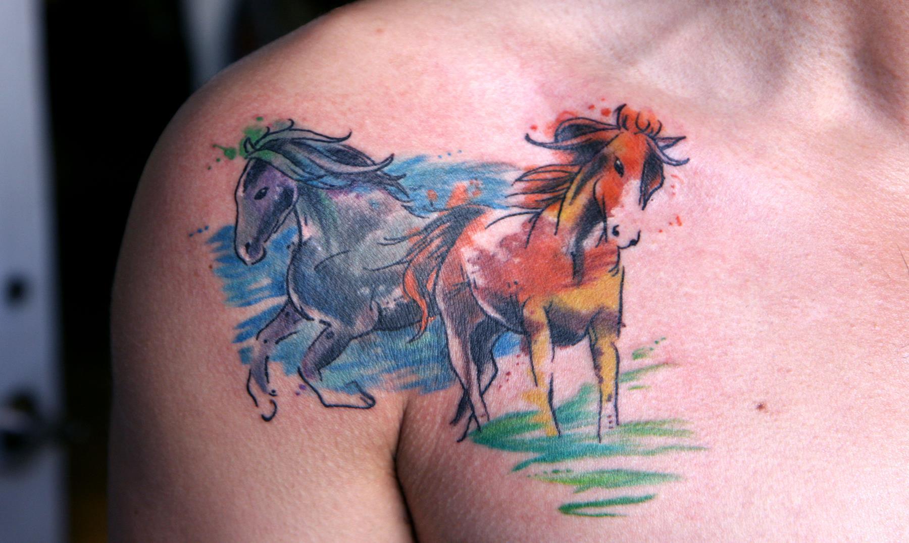 La moda de los tatuajes en acuarela