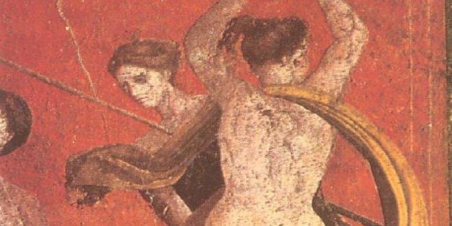 Detalle de Fresco de la Villa de los Misterios