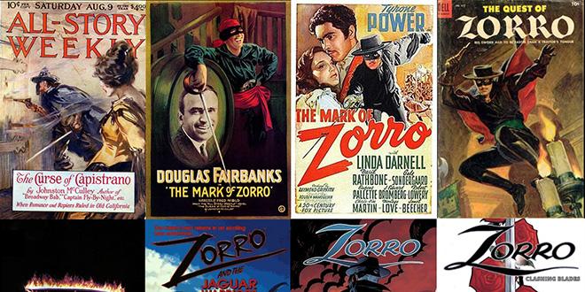 Carteles de las distintas películas de El Zorro