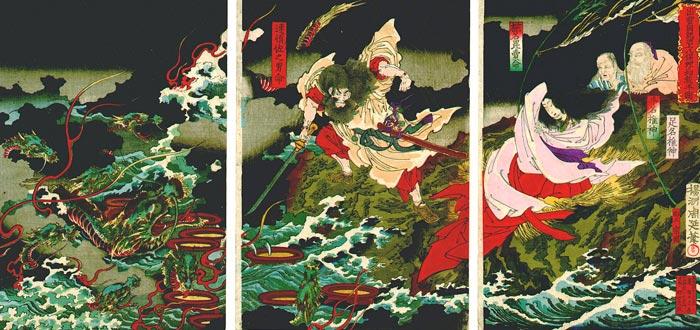 espada kusanagi, susanoo, serpiente