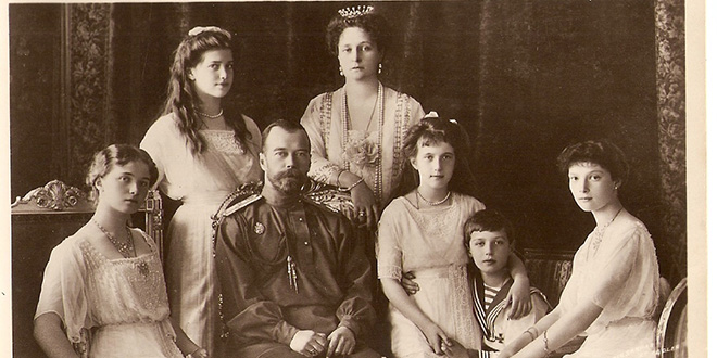El zar Nicolás II y su familia
