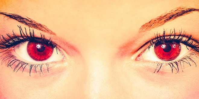 ojos vampiro