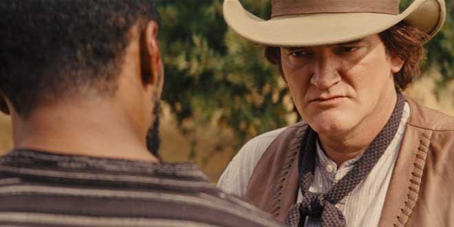 Quentin Tarantino en un clip de Django Unchained (2012, Quentin Tarantino)
