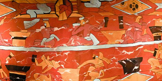 "Réplica del mural ""Los bebedores de Pulque"""