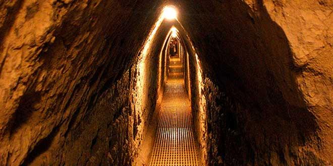 Túneles zona arqueológica de Cholula